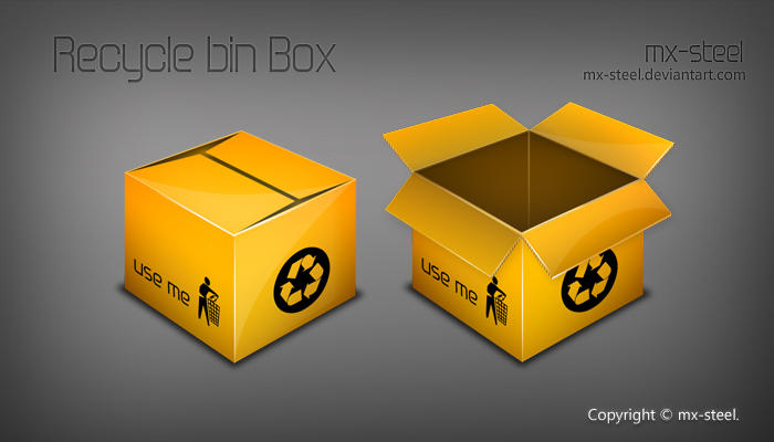 RecycleBin Box by mx-steel
