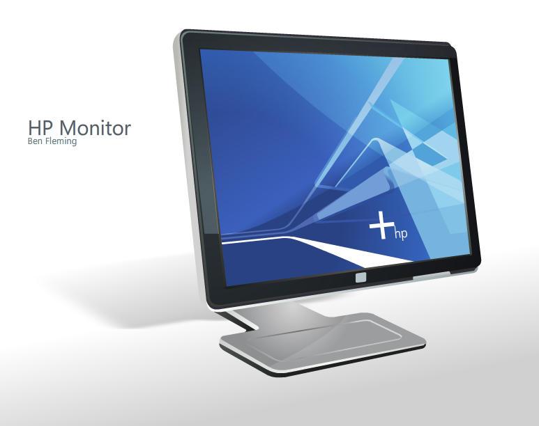 HP Monitor Dock Icon by MediaDesign