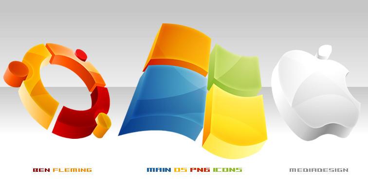 Main OS Dock Icons by MediaDesign