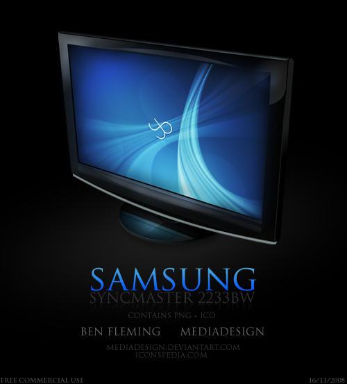 Samsung Monitor Icon by MediaDesign