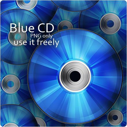 Blue CD Icon by MediaDesign