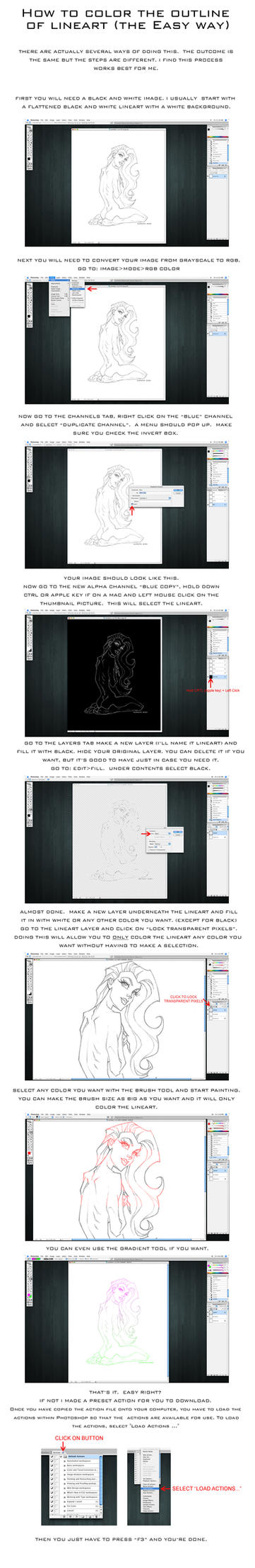 Coloring Outline Tutorial by thisisanton