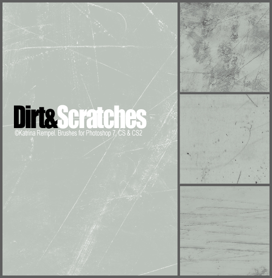 Dirt and Scratches Brushset by bluwings