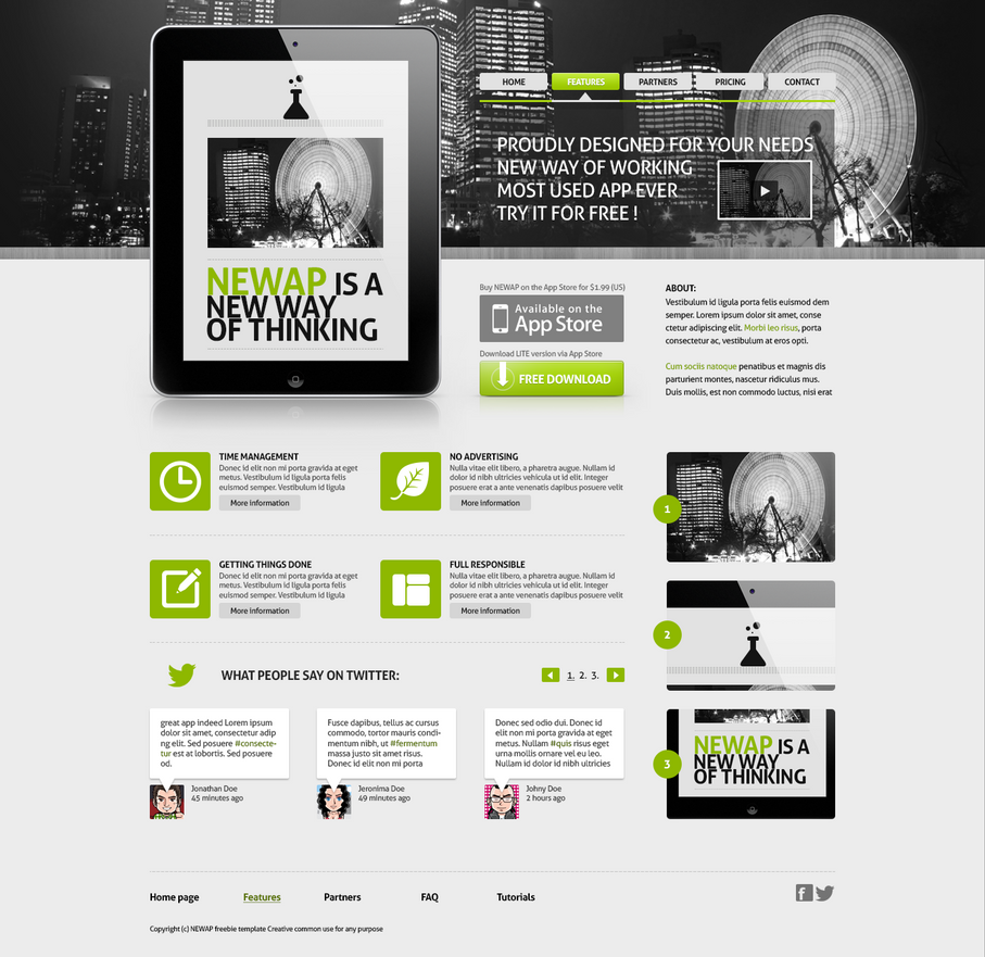 Newap Freebie Web Template By JakubSpitzer On DeviantArt