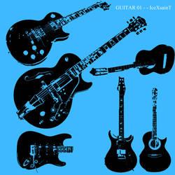 Guitar 01 Vector Brushset