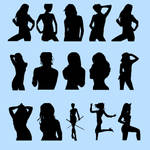 Female silhouette brushes
