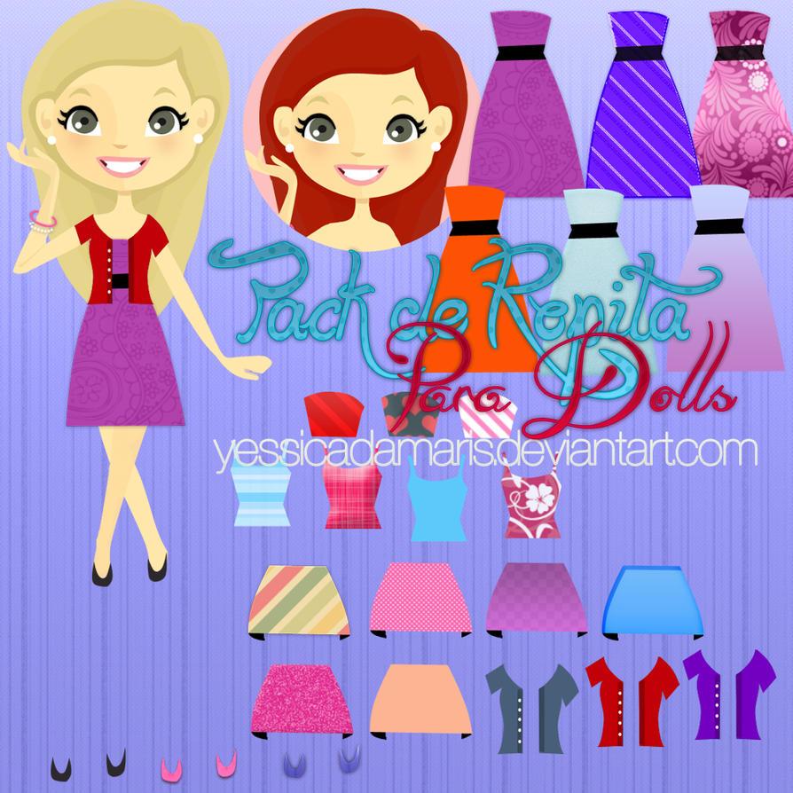 Pack de Ropita para Dolls by YessicaDamaris
