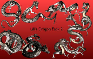 Dragon Pack 2 by Lill-stock