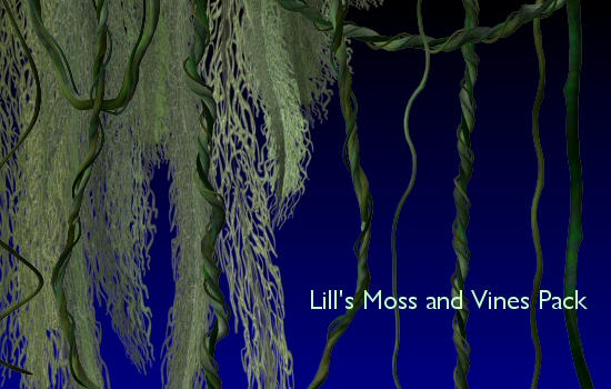 Moss and Vines Pack by Lill-stock