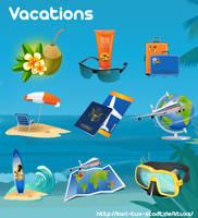 Vacation Cliparts by gnokii