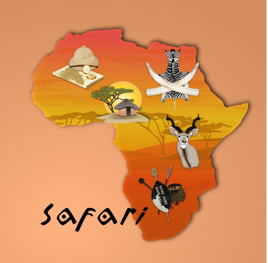 Safari Clipart Set by gnokii on DeviantArt