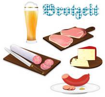 Clipart Set - Brotzeit by gnokii