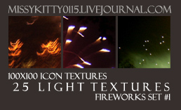 25 Firework Light Textures by missykitty0115