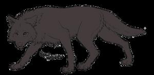 Wolf Stalk PSD Lineart