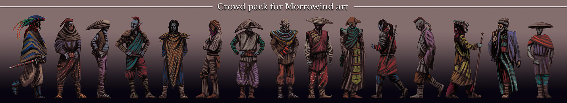 Morrowind persons pack by Lelek1980