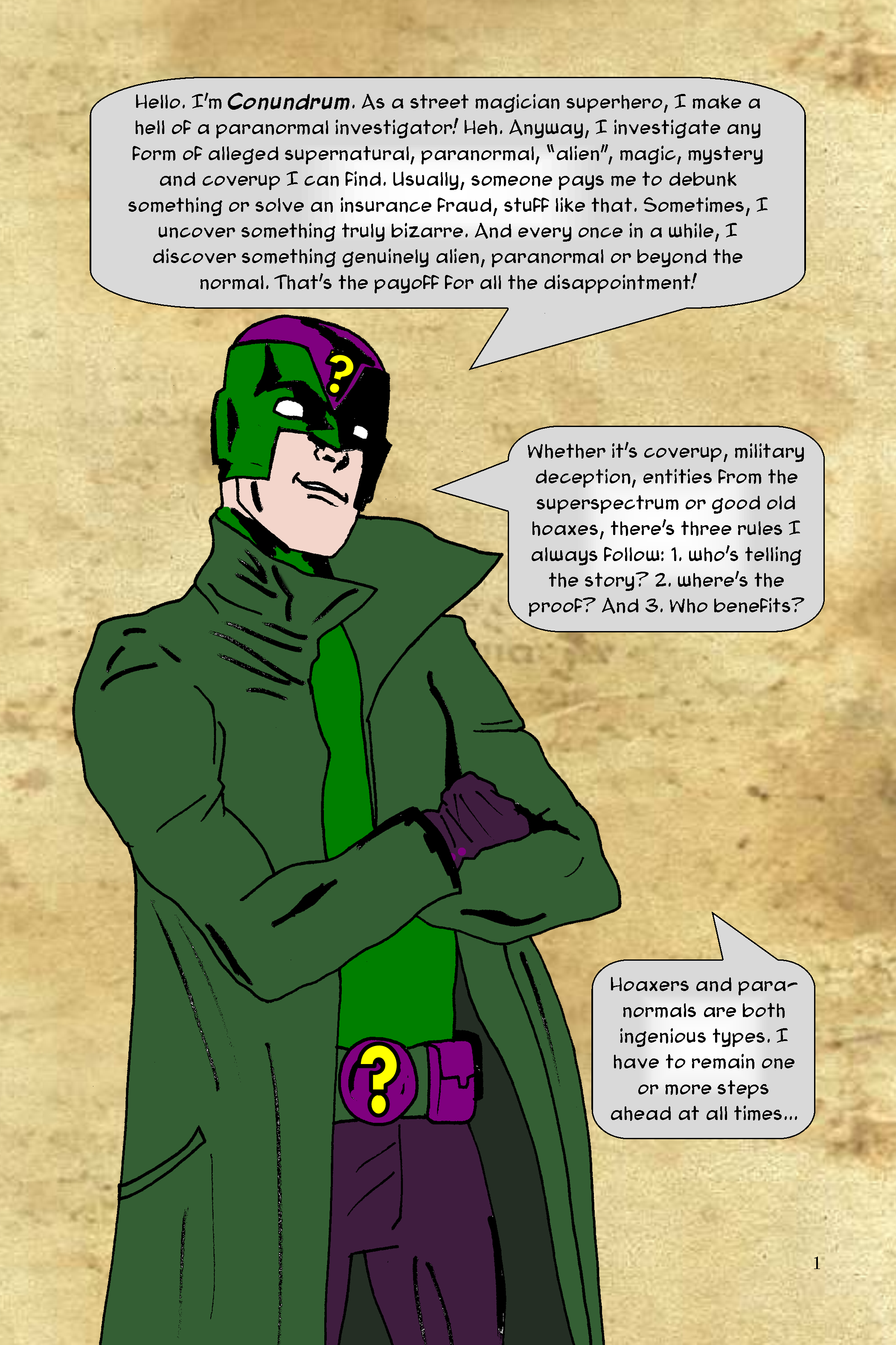 Conundrum Issue 1 Page 1