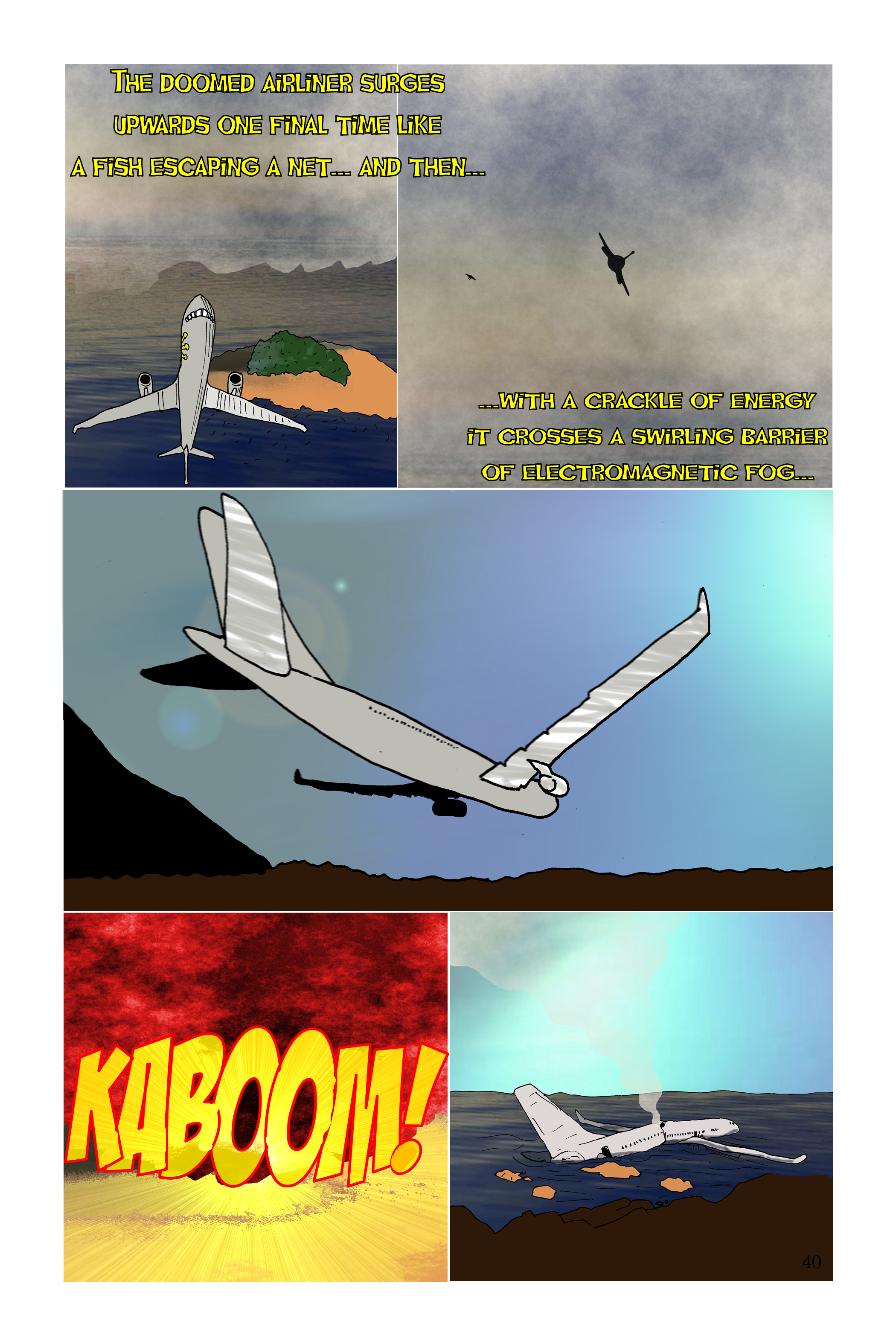 KABOOM cliffhanger page from individual issue 1