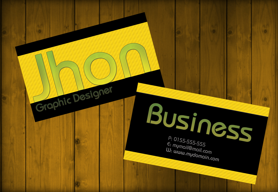 clean business card psd temple