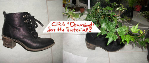 Clever Recycling - Shoes Beeing Flowerpots (+Tut) by GD-Doreen-BJ