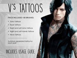 [DMC5] V's Tattoos Brushes (Photoshop)