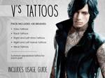 [DMC5] V's Tattoos Brushes (Photoshop) by Dark-Arya