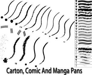 Carton Comic and Manga Pans by Pebble-Art-CM