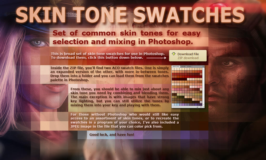 Skin Tone Swatches by Rahll