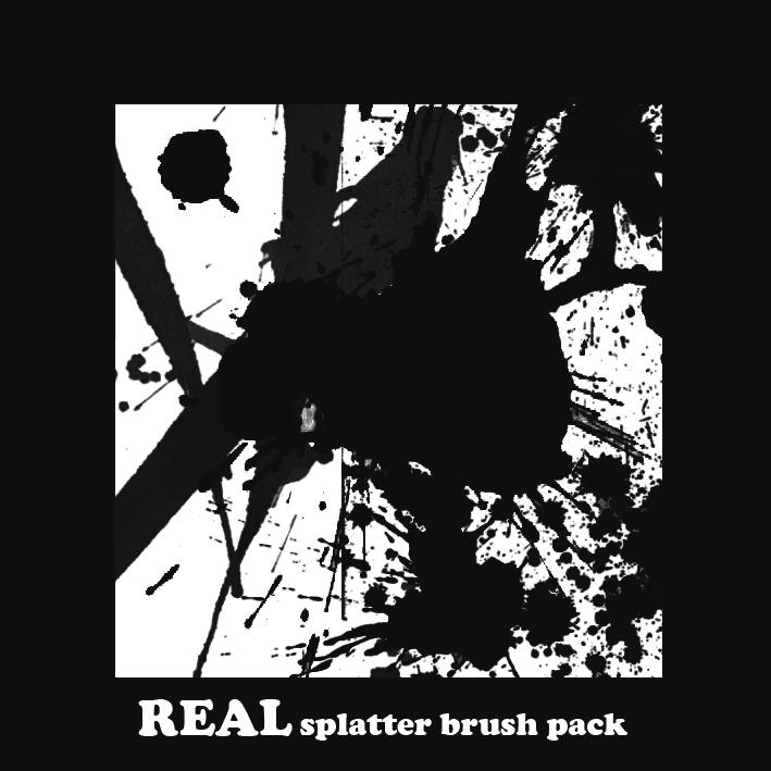 REAL Splatter brushes