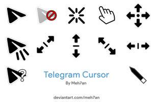 Telegram Black Cursor