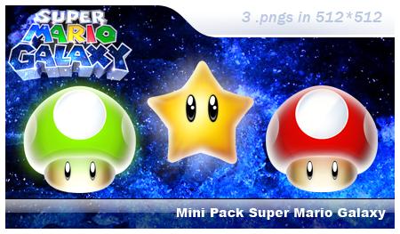 Mini Pack Super Mario Galaxy by pgianni