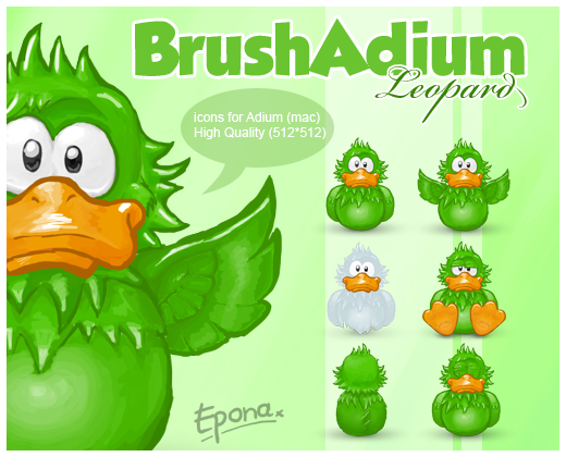 BrushAdium Leopard icons by pgianni