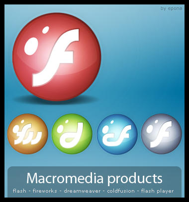 Macromedia products Pack by pgianni