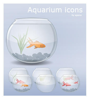 Aquarium Icons by pgianni