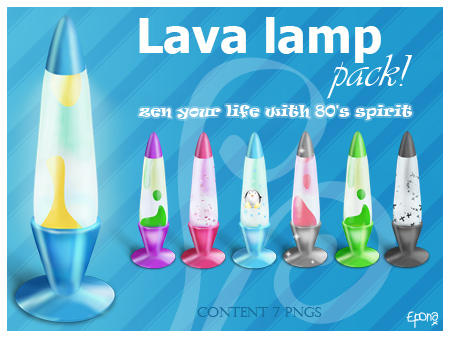 Lava lamp pack by pgianni