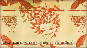 Leaf Hair Girl Brush Set