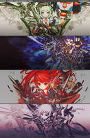 Grand Chase PSD Reference PACK by iScarletbluelove