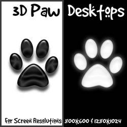 3D Paw Desktop Package