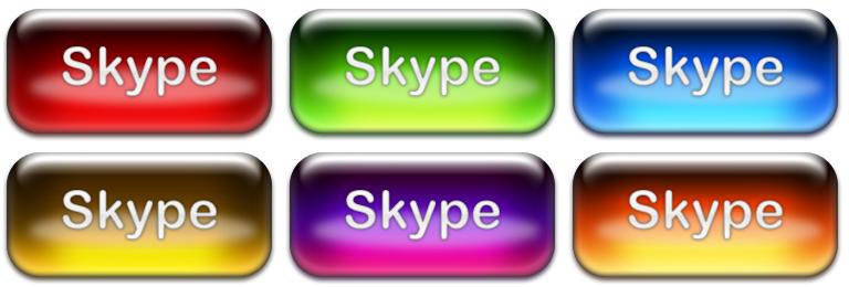 Skype icon set aqua
