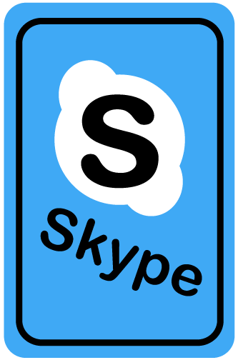 skype icon card by THE-GREMLIN