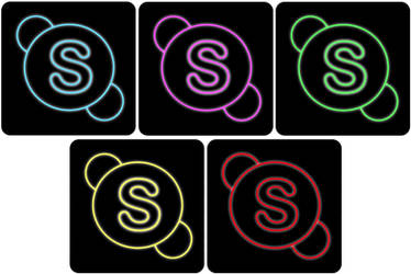 skype neon icon by THE-GREMLIN