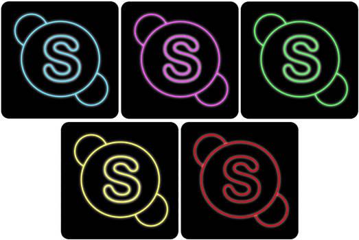 skype neon icon