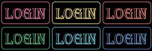 Login neon icon