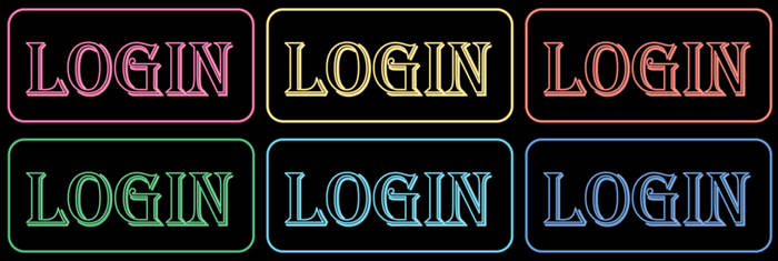 Login neon icon by THE-GREMLIN