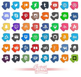 UPDATED! 48 Splatoon Inspired Social Media Icons!