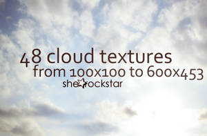 48 Cloud Textures-Backgrounds by she-rockstar