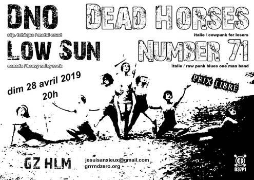 19.04.28 Dead Horses (IT) + Number 71 (IT) + DNO (