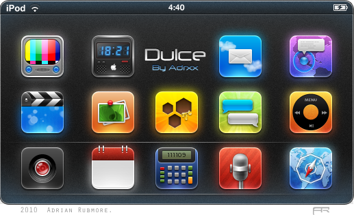 """Dulce"" iPhone Theme by adrxx"