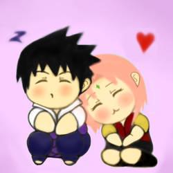 Sasusaku chibi Valentine Gif