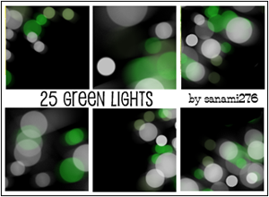 Green defocused lights by Sanami276