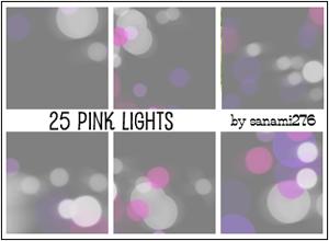 Pinkish defocused lights